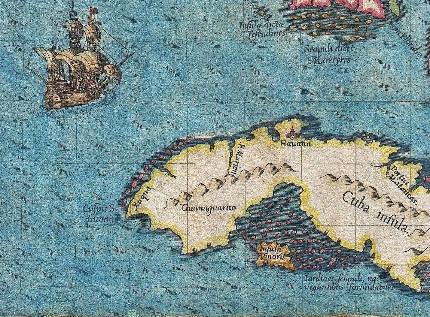 Florida To Cuba Map.File 1591 De Bry And Le Moyne Map Of Florida And Cuba 1591 Jpg