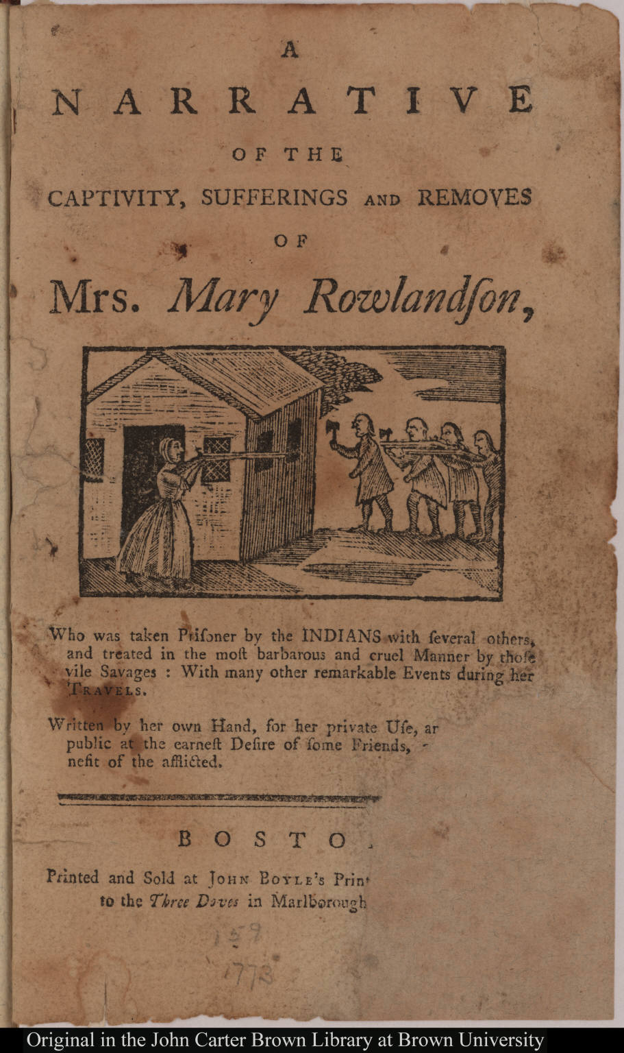 mary rowlandson is an american colonial author essay American history essays: mary rowlandson  history mary rowlandson this essay mary rowlandson and other  philip's forces and colonial troops made everyone .