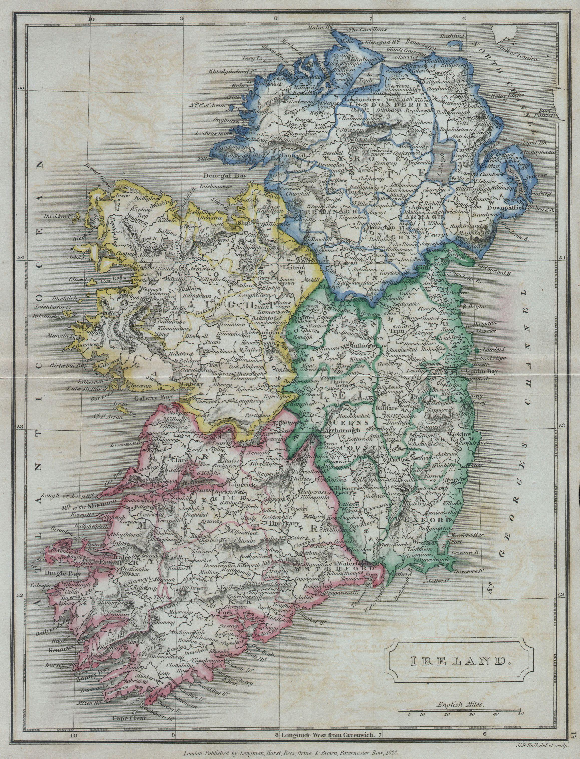 Map Of Ireland 32.File 1822 Butler Map Of Ireland Geographicus Ireland Butler 1822
