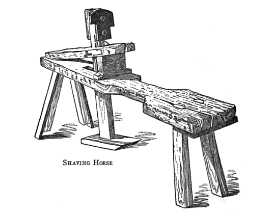 19th century knowledge carpentry and woodworking shaving horse 1