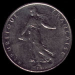 1 French franc 1991 coin obverse