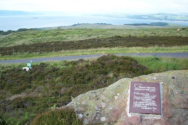 File:A Plaque on the top of Barbay Hill - geograph.org.uk - 387719.jpg