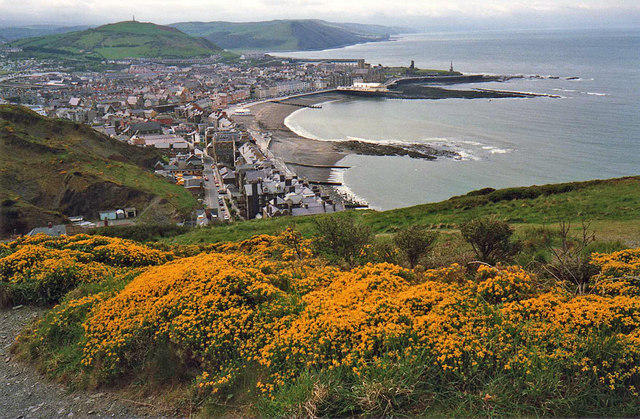 Aberystwyth from Constitution Hill - geograph.org.uk - 1367568