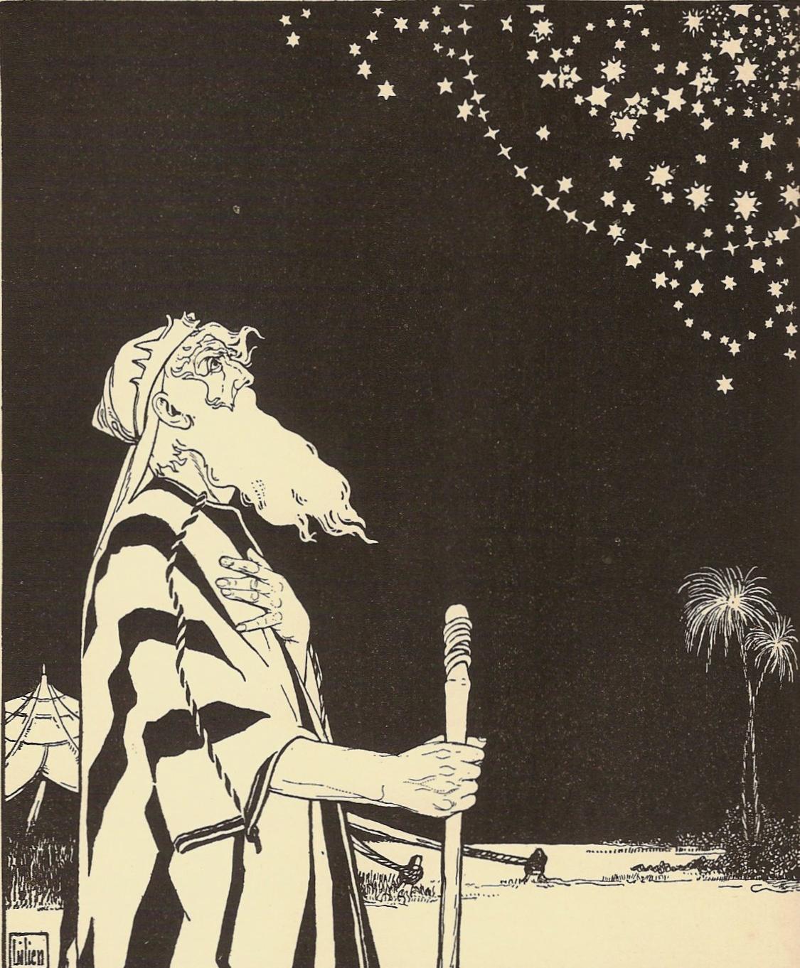 אברהם, תחריט עץ מאת אפרים משה ליליין | cc: ויקיפדיה