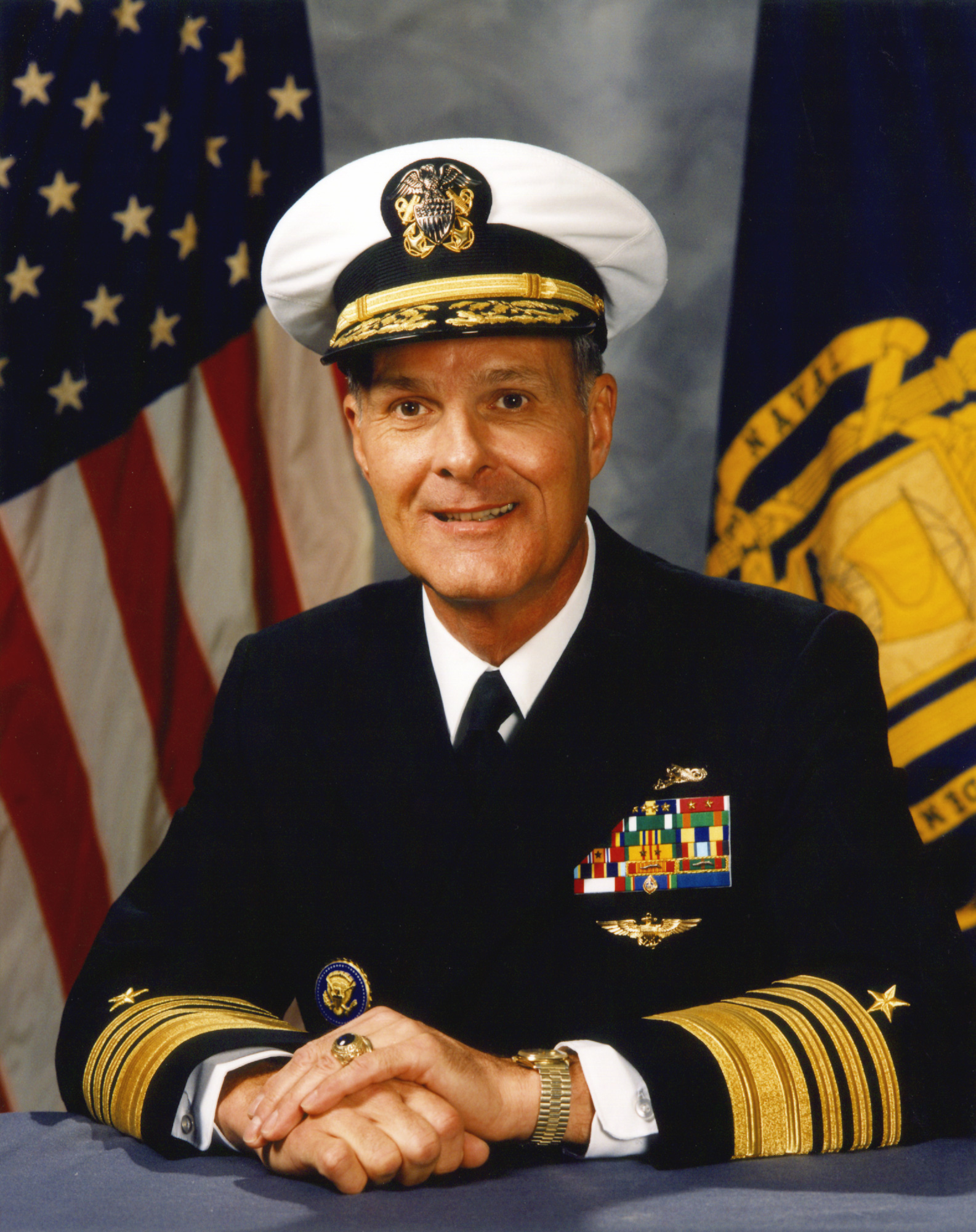 Admiral Charles Larson as superintendent of the US Naval Academy