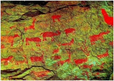 File:Ambadevi Rock Painting - Animal zoo.jpg