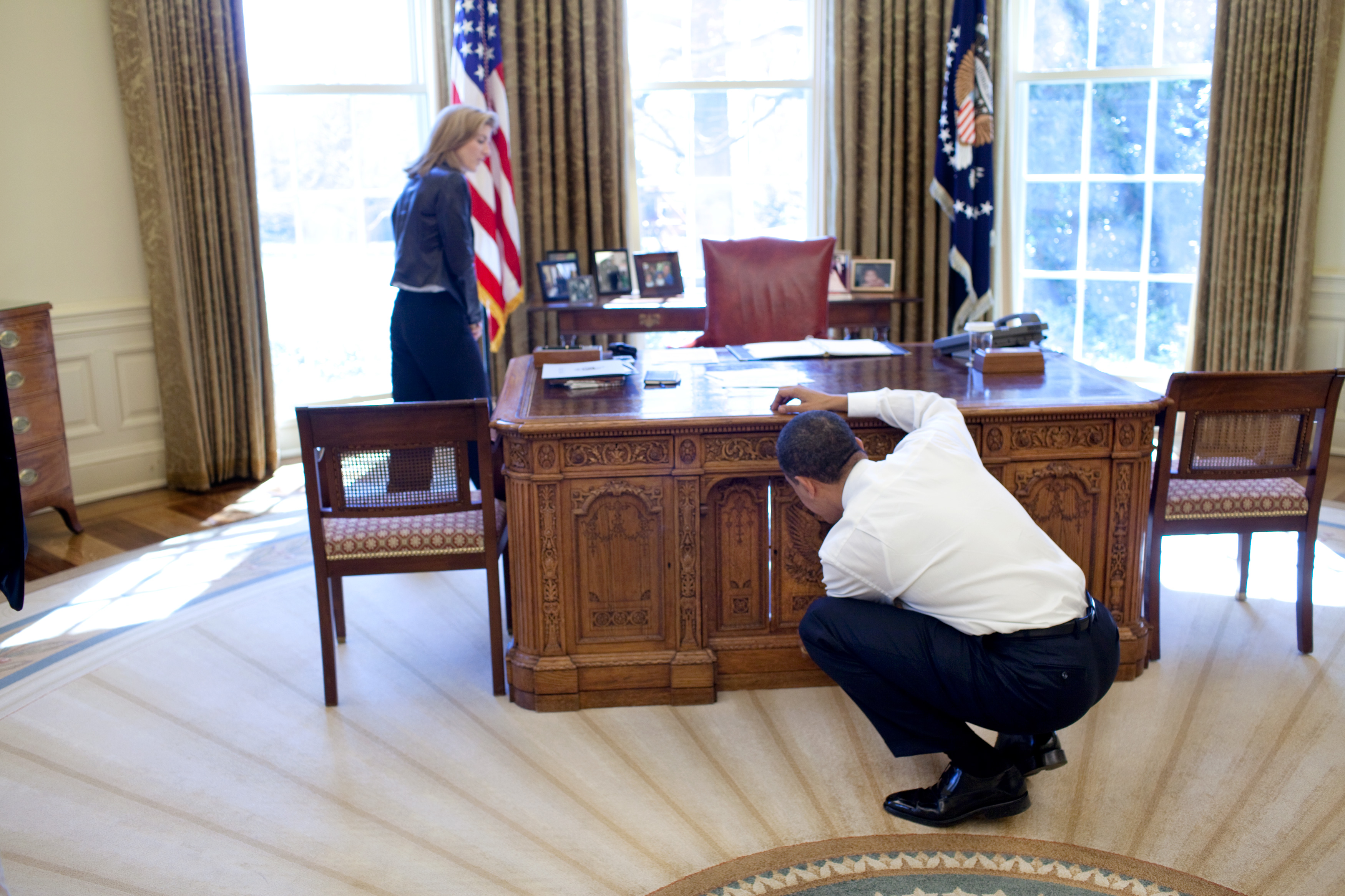 oval office furniture. File:Barack Obama With Caroline Kennedy Looking At Resolute Desk.jpg Oval Office Furniture