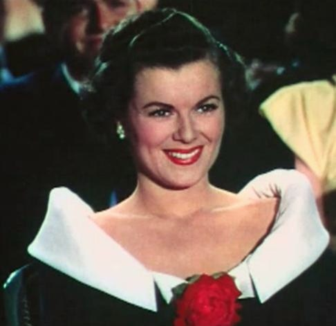 Barbara Hale in Jolson Sings Again trailer