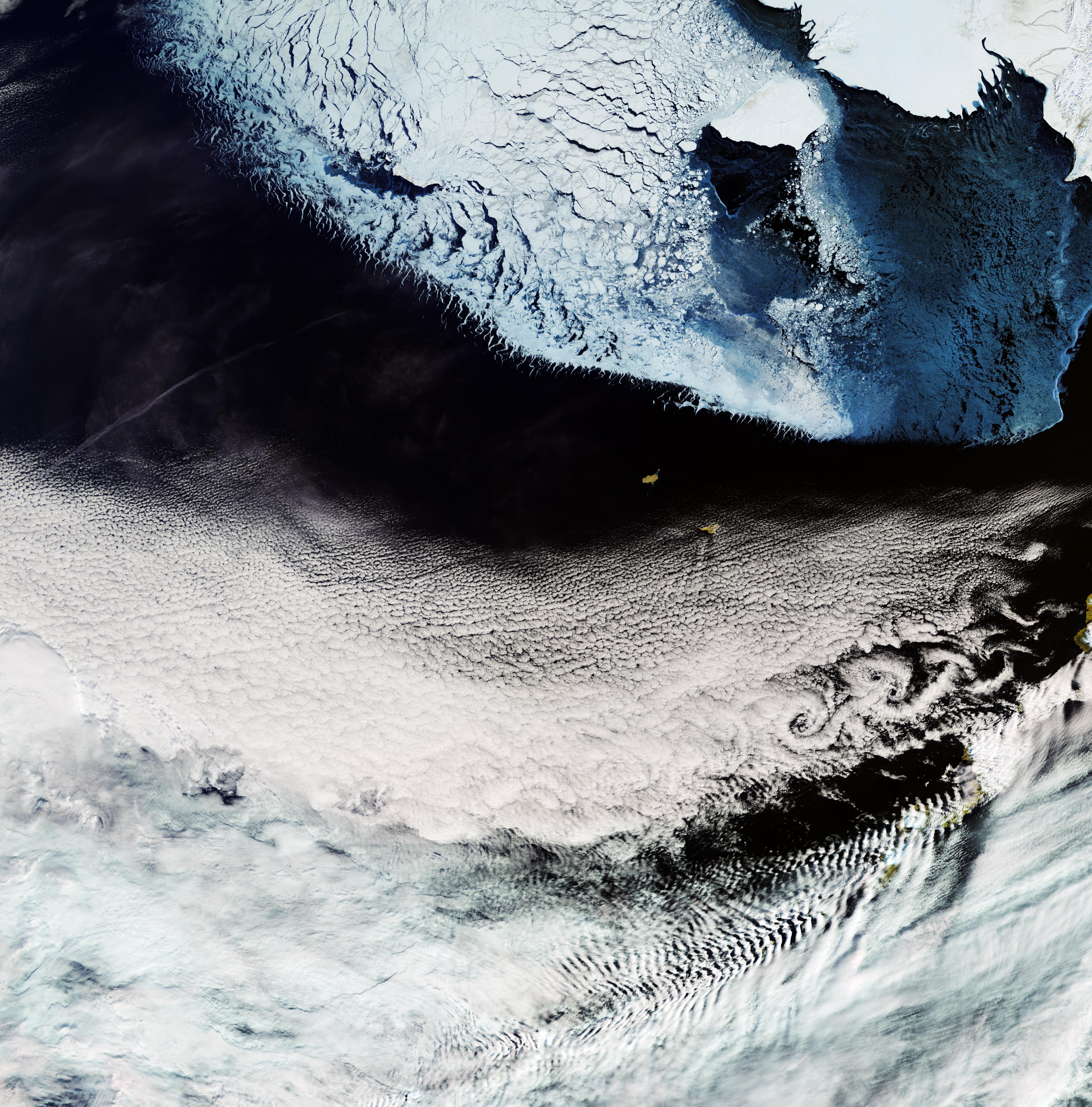 Morze Beringa widziane przez instrumenty misji Sentinel-3