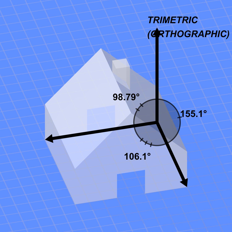 Blue house trimetric projection.png
