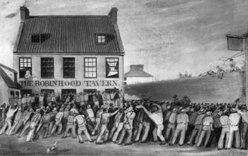 Bread riots in St Helier Jersey Channel Islands 1847
