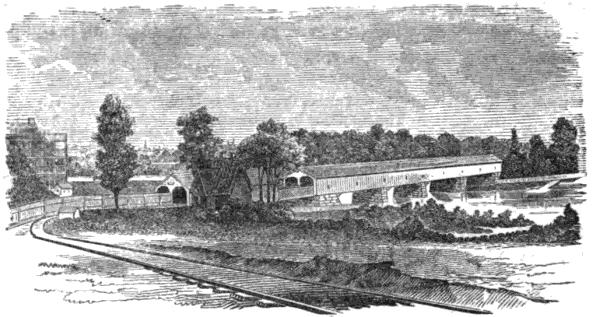 Description bridge across the schuylkill river drawing
