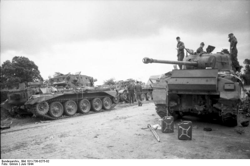 """A"" Squadron tanks at Point 213"
