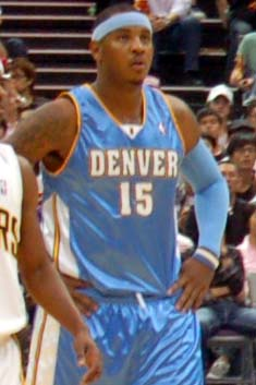 Carmelo Anthony during an NBA preseason game i...