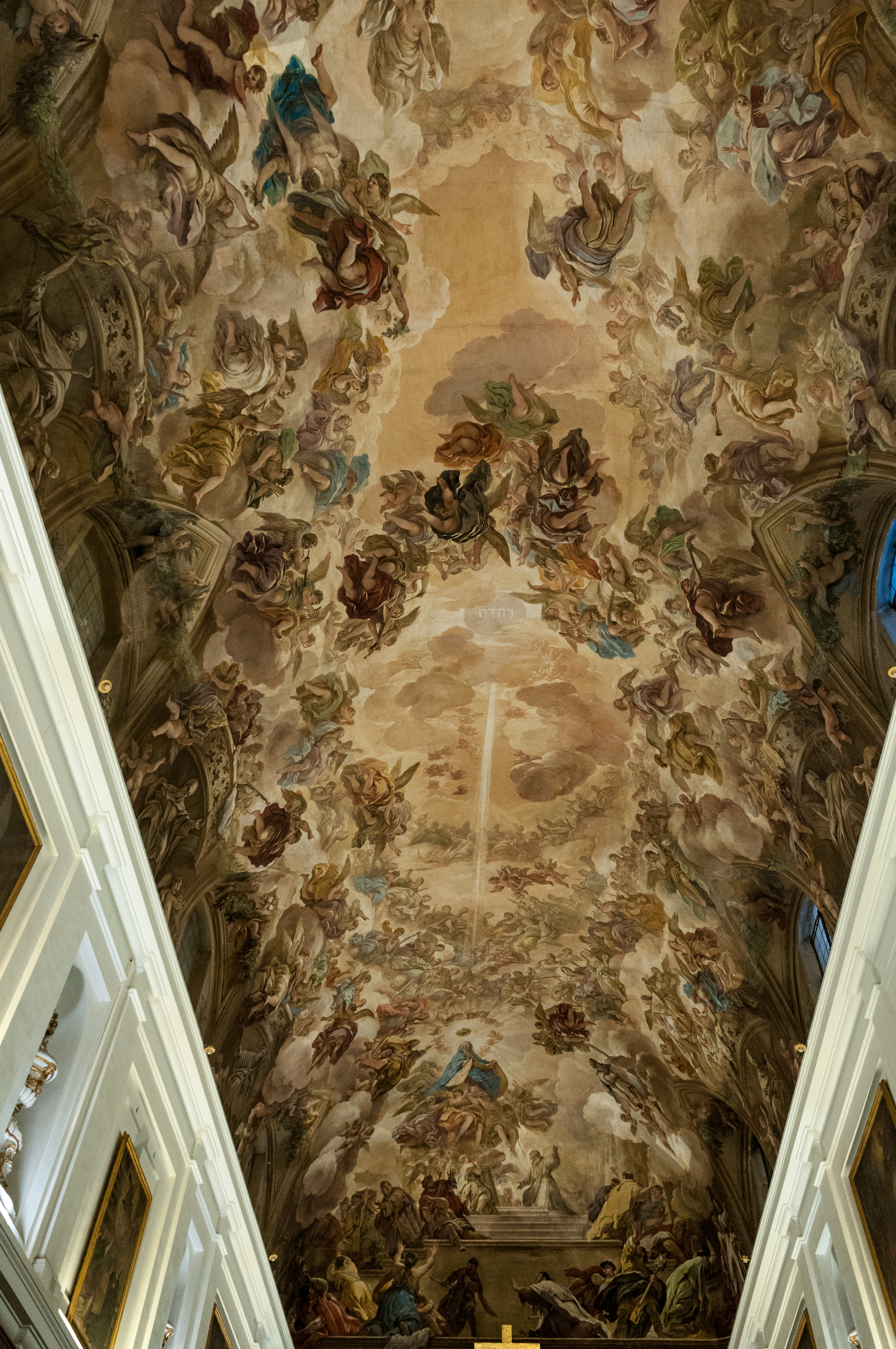 File cathedral of toledo painting in the ceiling by luca Rules for painting ceilings