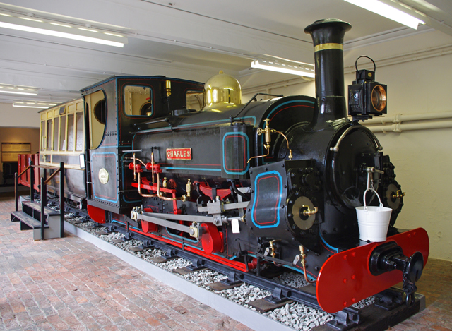 a locomotive at The Penrhyn Castle Railway Museum.
