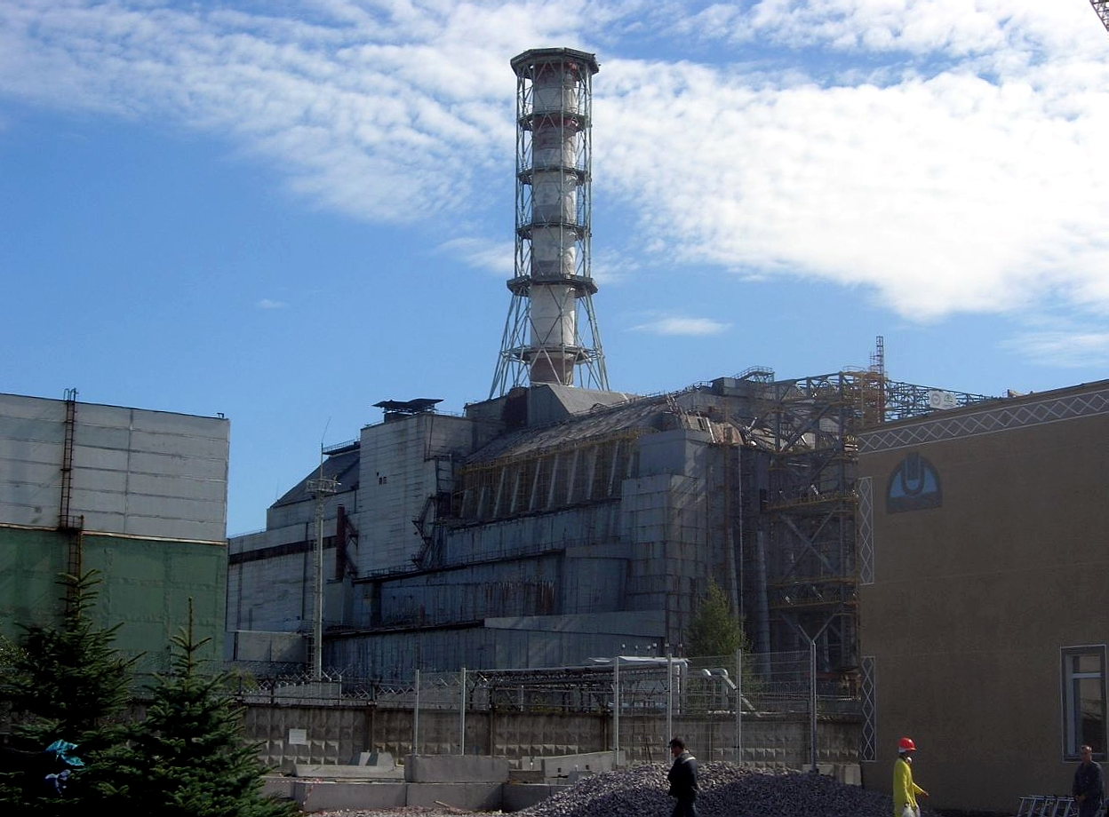 Chernobyl Disaster Wikipedia Power Plant Layout Fire Red In 2006 With The Sarcophagus Containment Structure