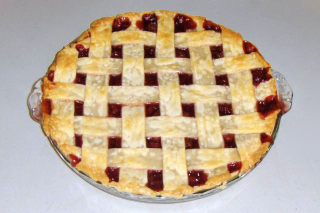 cherry pie. File:Cherry pie with lattice