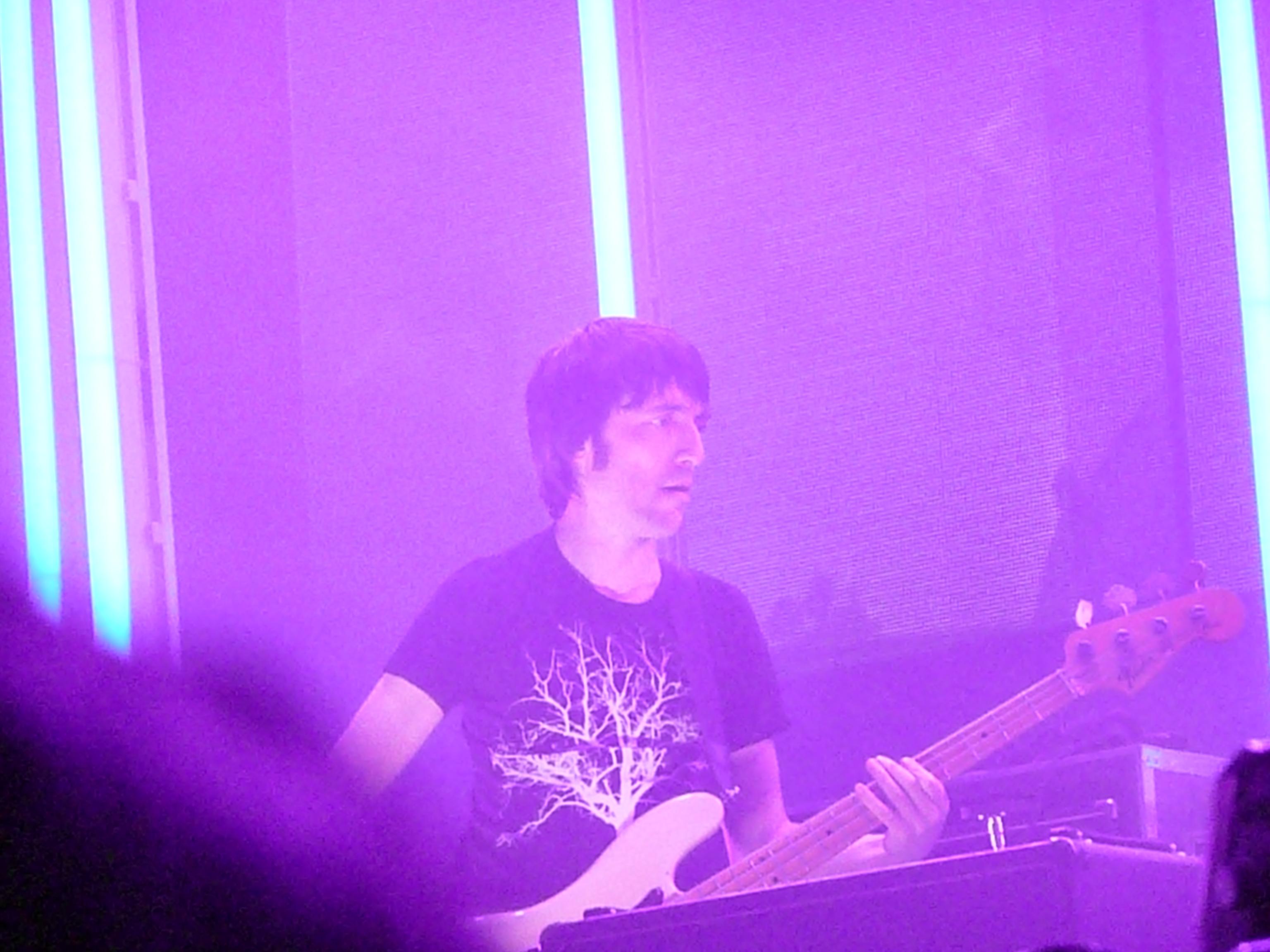 Colin Greenwood con Radiohead en 2008.