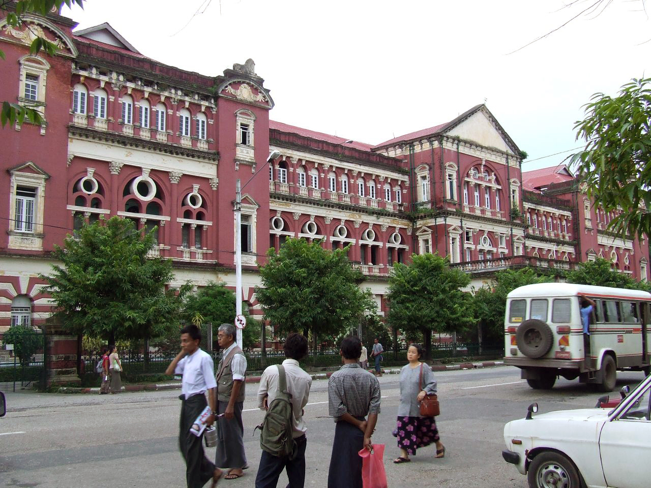 Yangon Myanmar  city photos : Colonial building, Yangon, Myanmar Wikipedia, the free ...