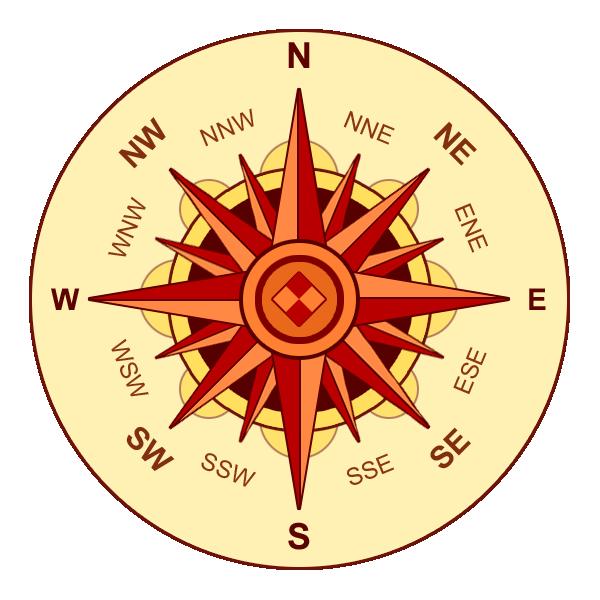 compass rose (public domain)