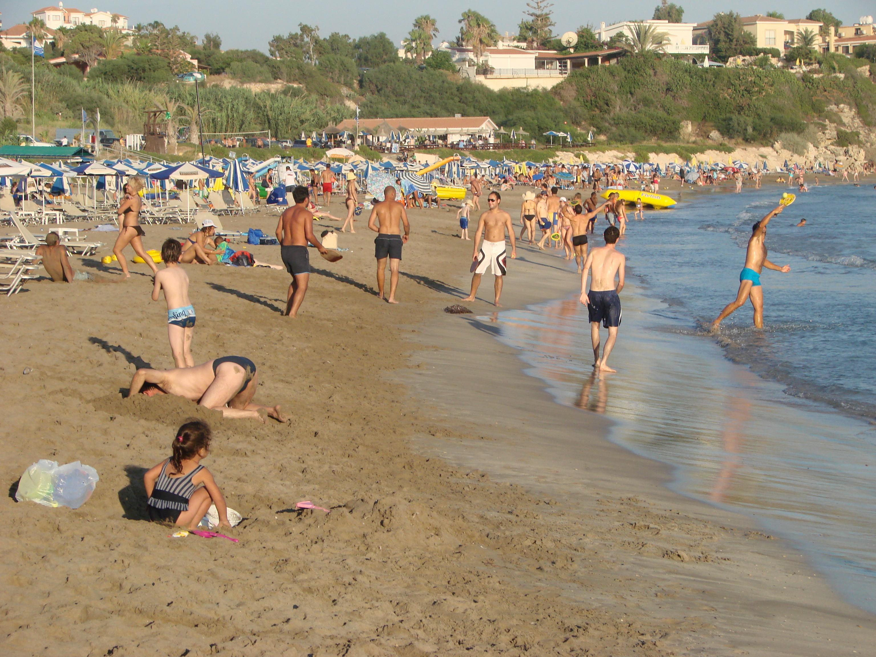 пафос кипр пляж корал бей фото