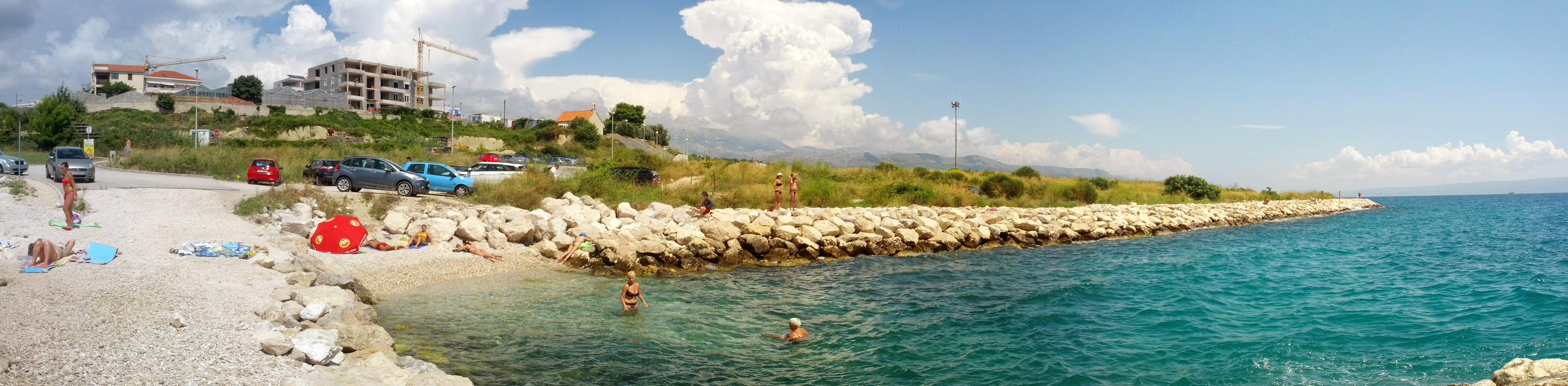 Croatia Split beach Znjan panorama.jpg