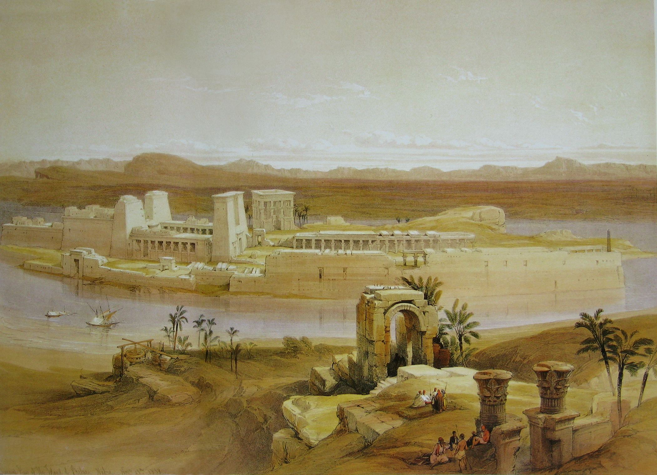 https://upload.wikimedia.org/wikipedia/commons/d/d8/David_Roberts_Temple_Island_Philae.jpg