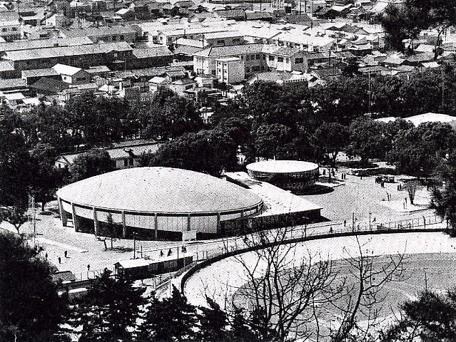 Ehime Convention Hall, Kenzo Tange Arch. & Ass. Yosikatu Tuboi in 1953.