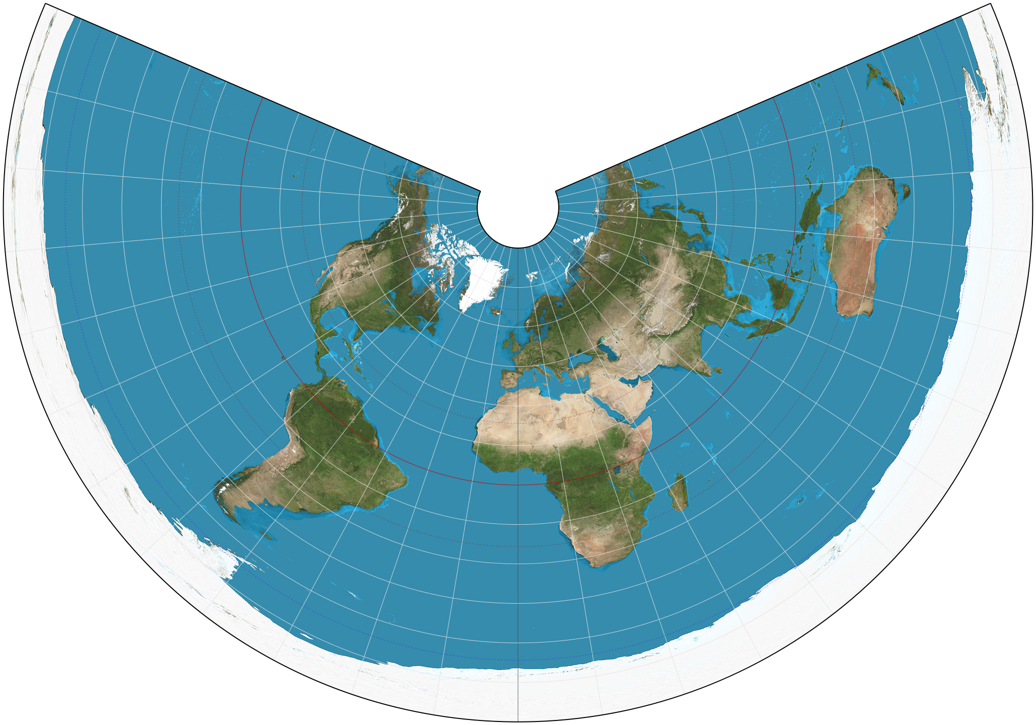 equidistant projection Montreal is roughly equidistant from new york, boston, and toronto recent examples of equidistant from the web yin explains that the professor uses what's called an azimuthal equidistant map projection.