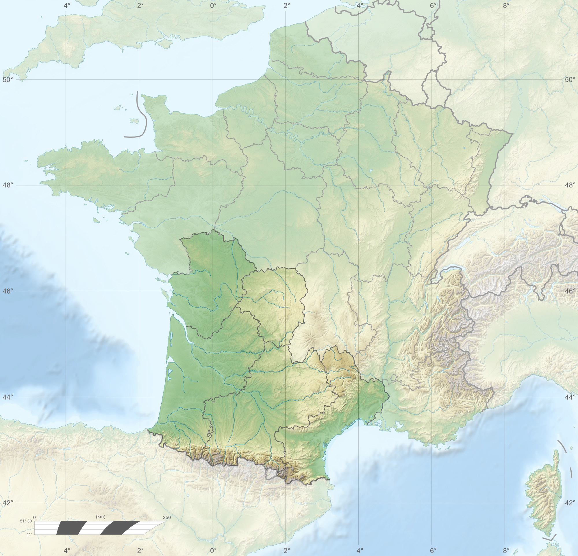 Datei:France relief location map Large South west highlighted.png ...