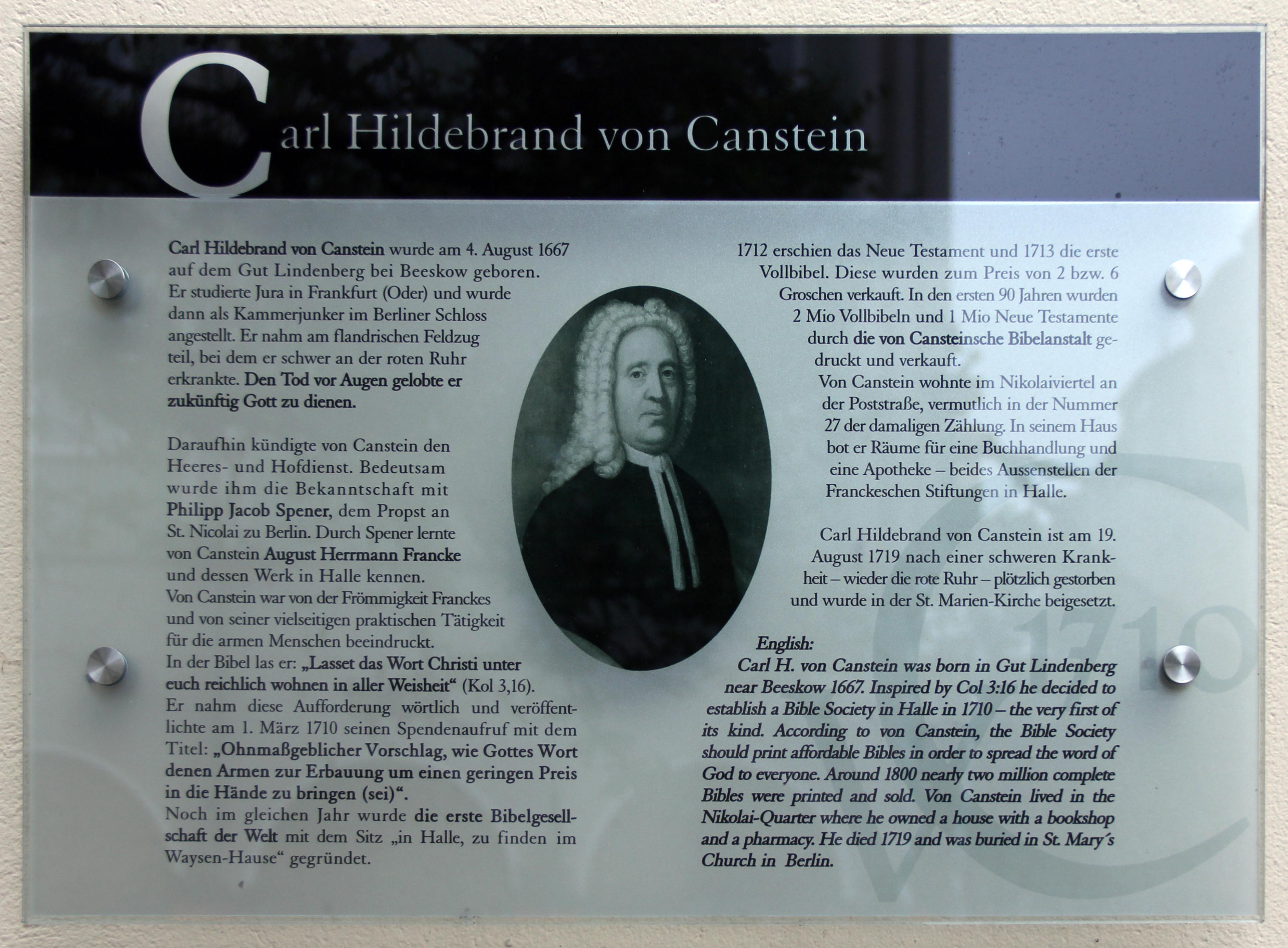 Carl Hildebrand von Canstein