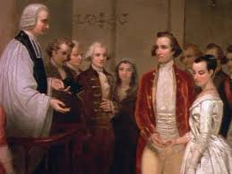 George and Martha Washington wedding, January 6, 1759