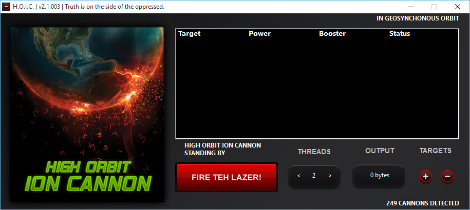orbit ion cannon ddos