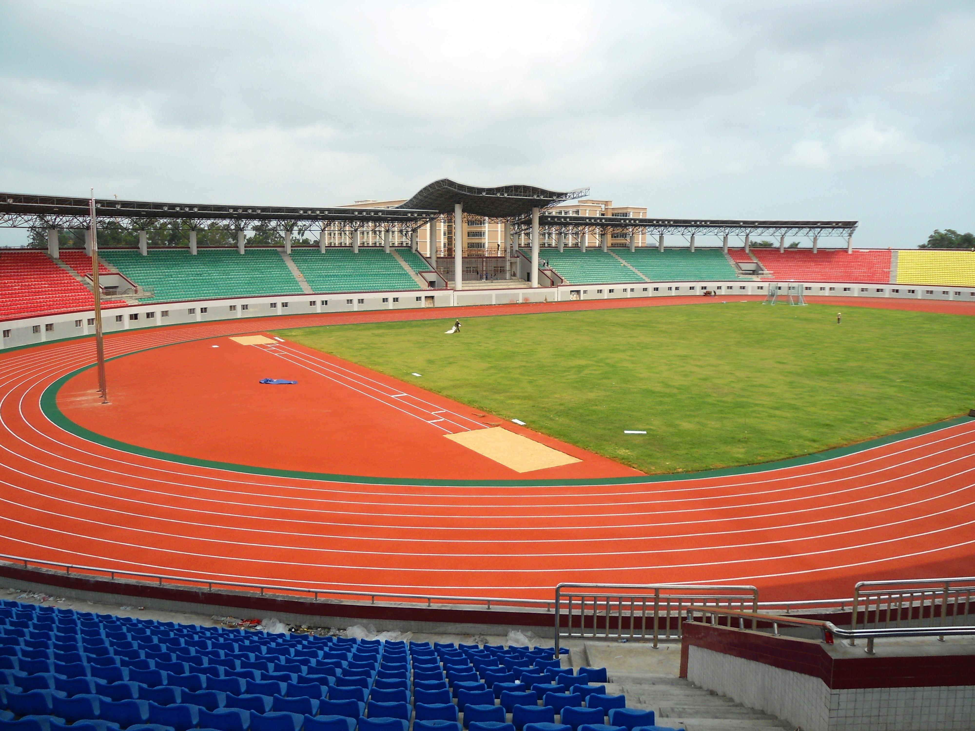 File:Haikou College of Economics - sports arena interior ...