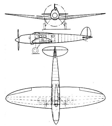 Heinkel He 70 3-view L'Aerophile April 1933.jpg