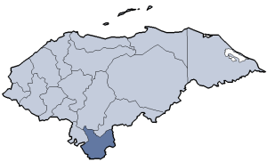 Location of Choluteca department