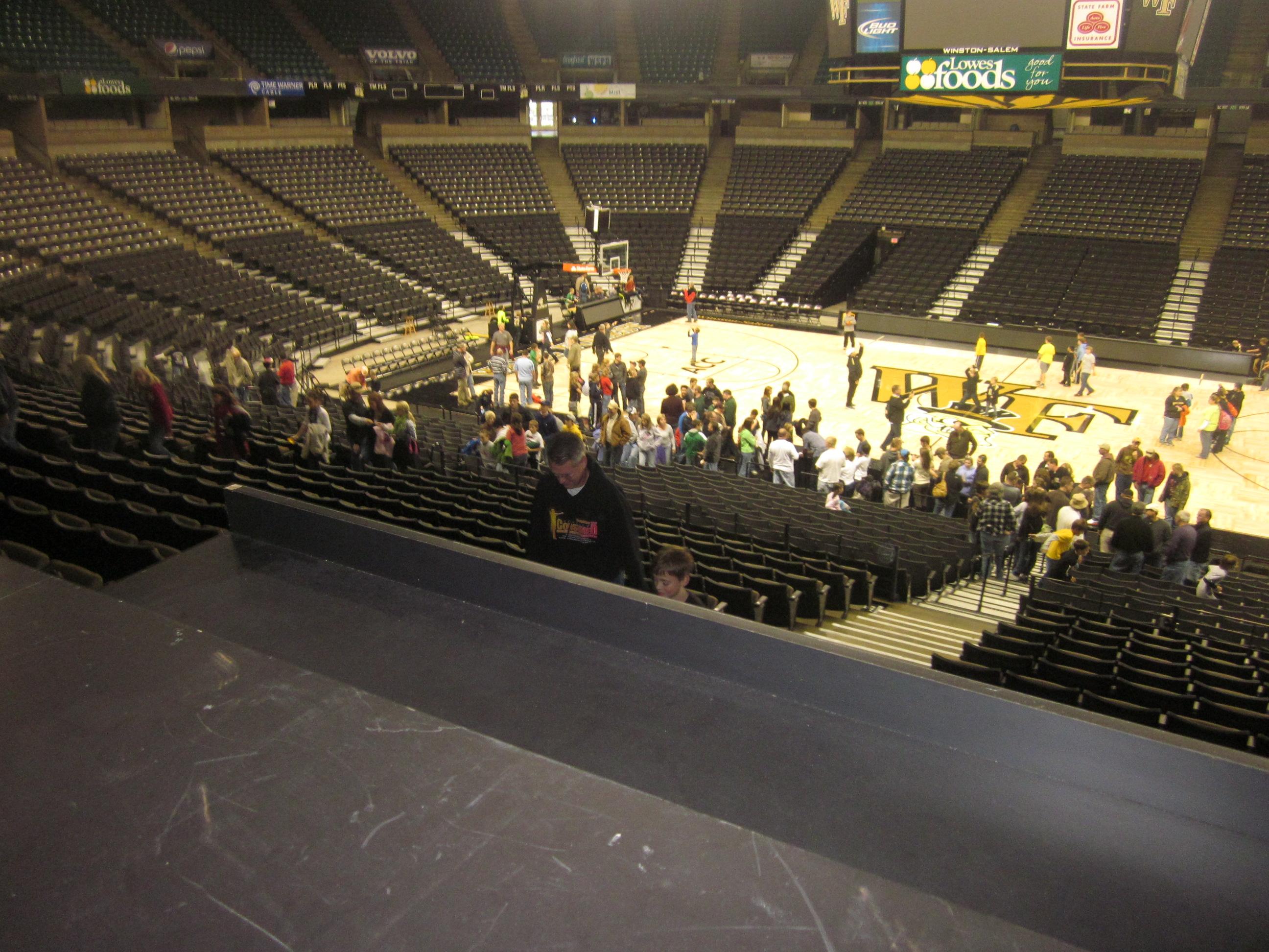 Inside of Lawrence Joel Veterans Memorial Coliseum.JPG