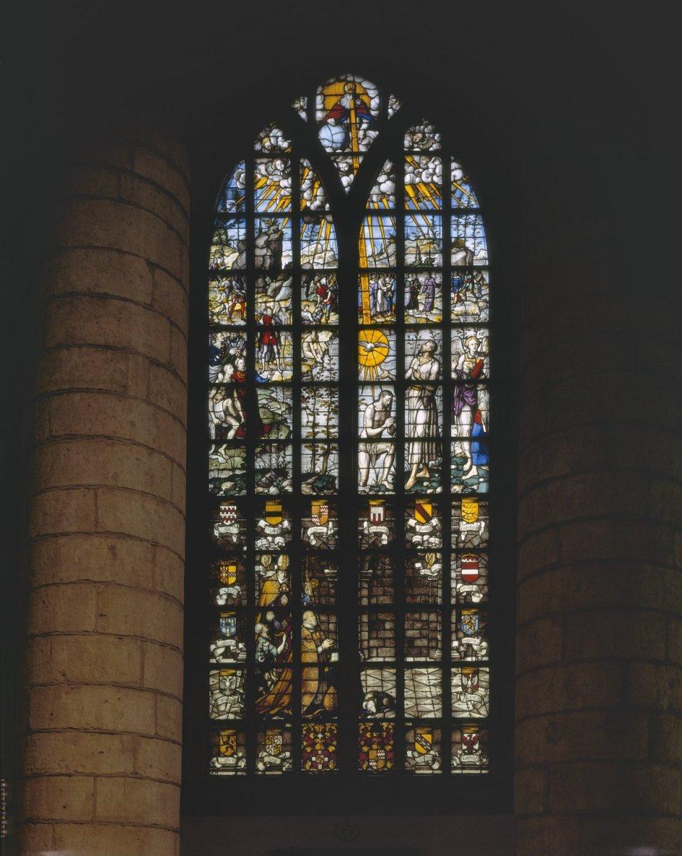 Brands With D >> File:Interieur, gebrandschilderde glazen, glas 15, De doop van Jezus - Gouda - 20358189 - RCE ...