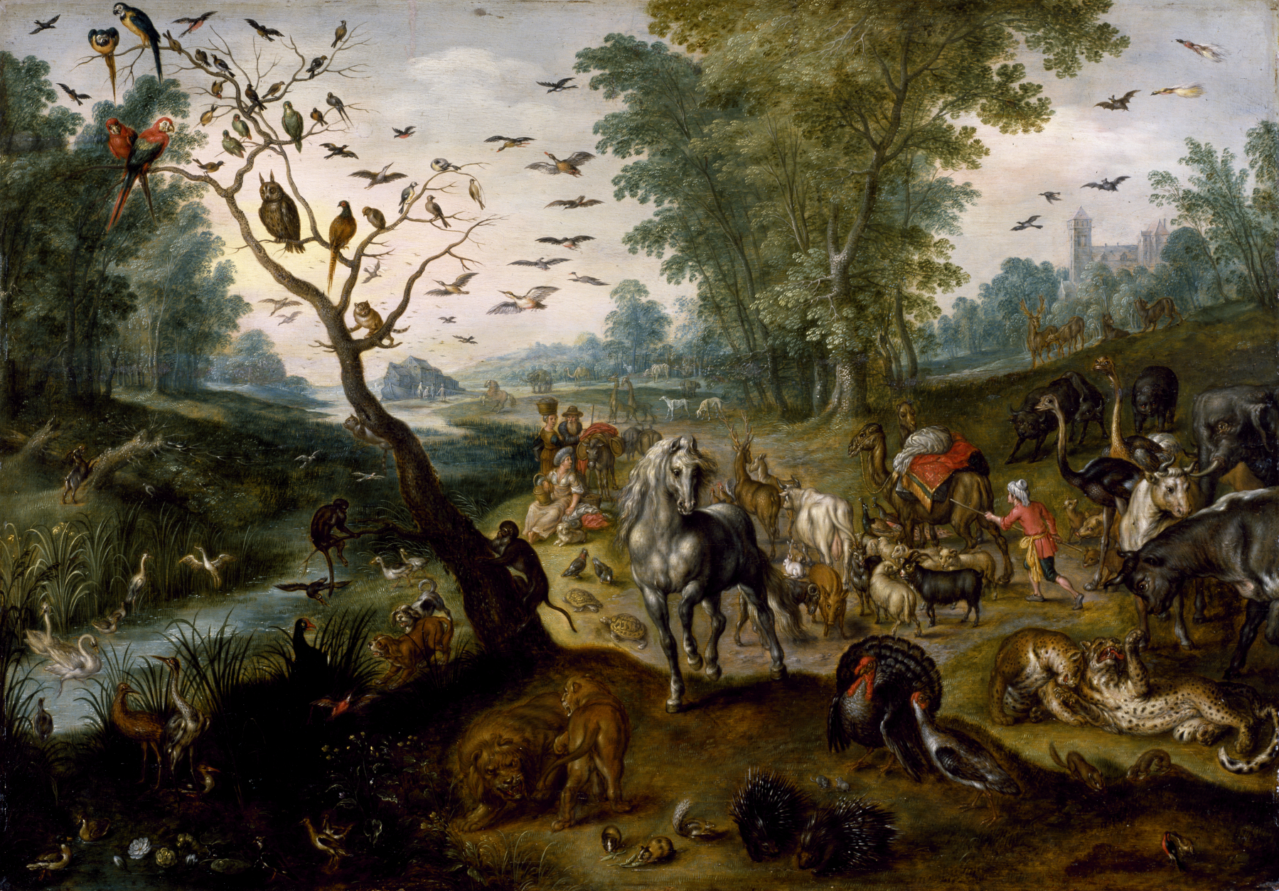 Jan_van_Kessel_II_-_Noah\'s_Family_Assembling_Animals_before_the_Ark_-_Walters_371998.jpg
