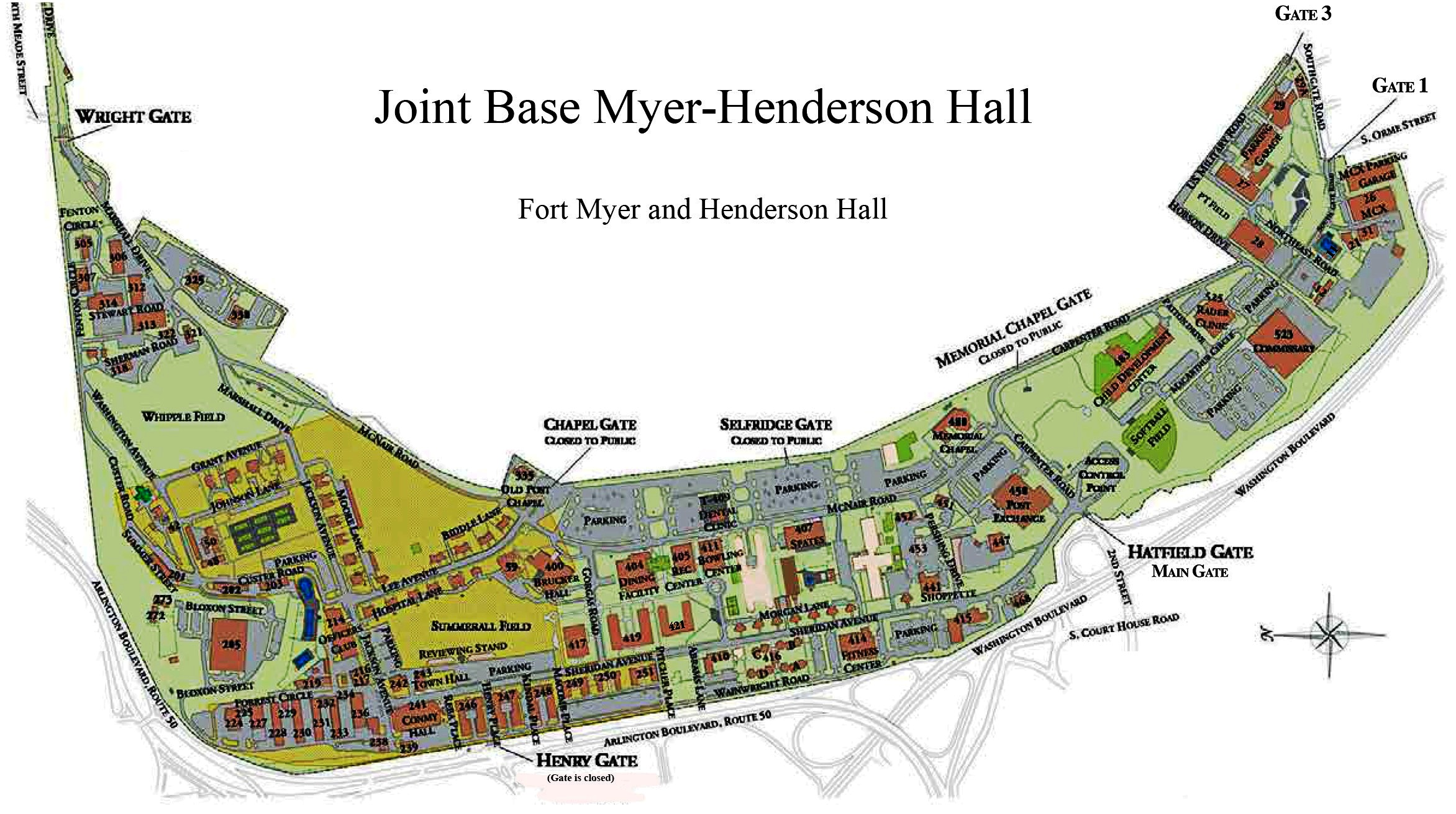 Map Of Fort Myers File:Joint Base Myer Henderson Hall map.   Wikimedia Commons