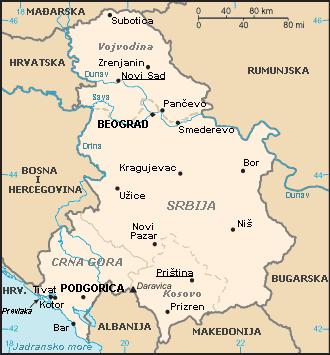 mapa srbije i crne gore File:Karta SiCG.png   Wikimedia Commons mapa srbije i crne gore