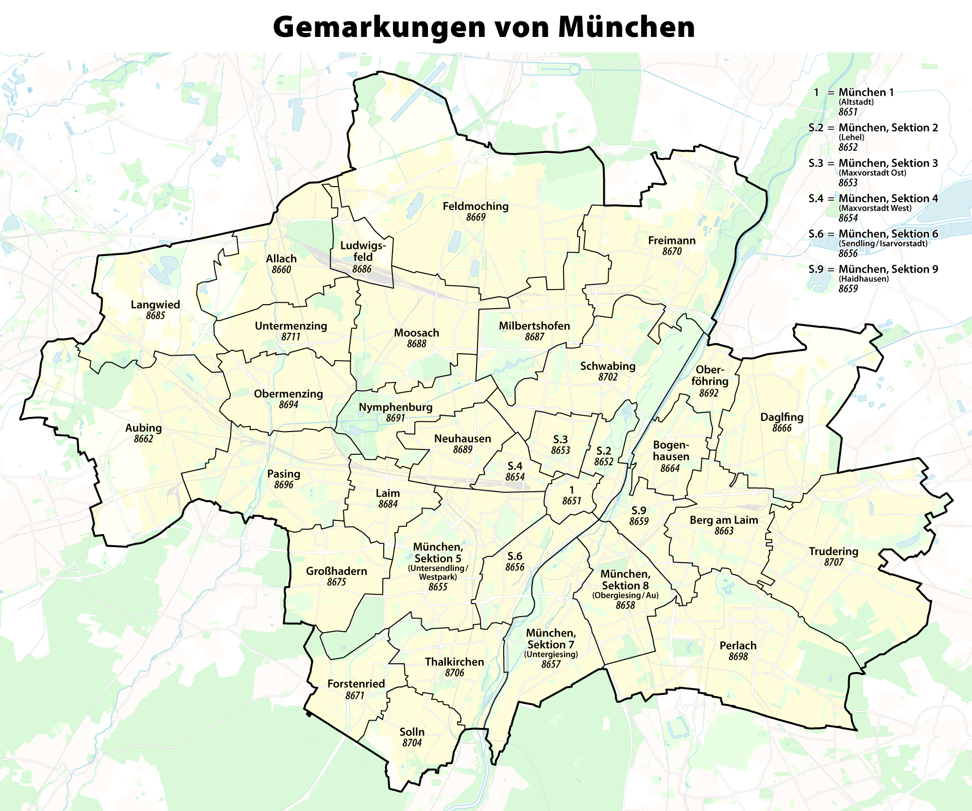 File Karte Der Gemarkungen In Munchen Png Wikimedia Commons