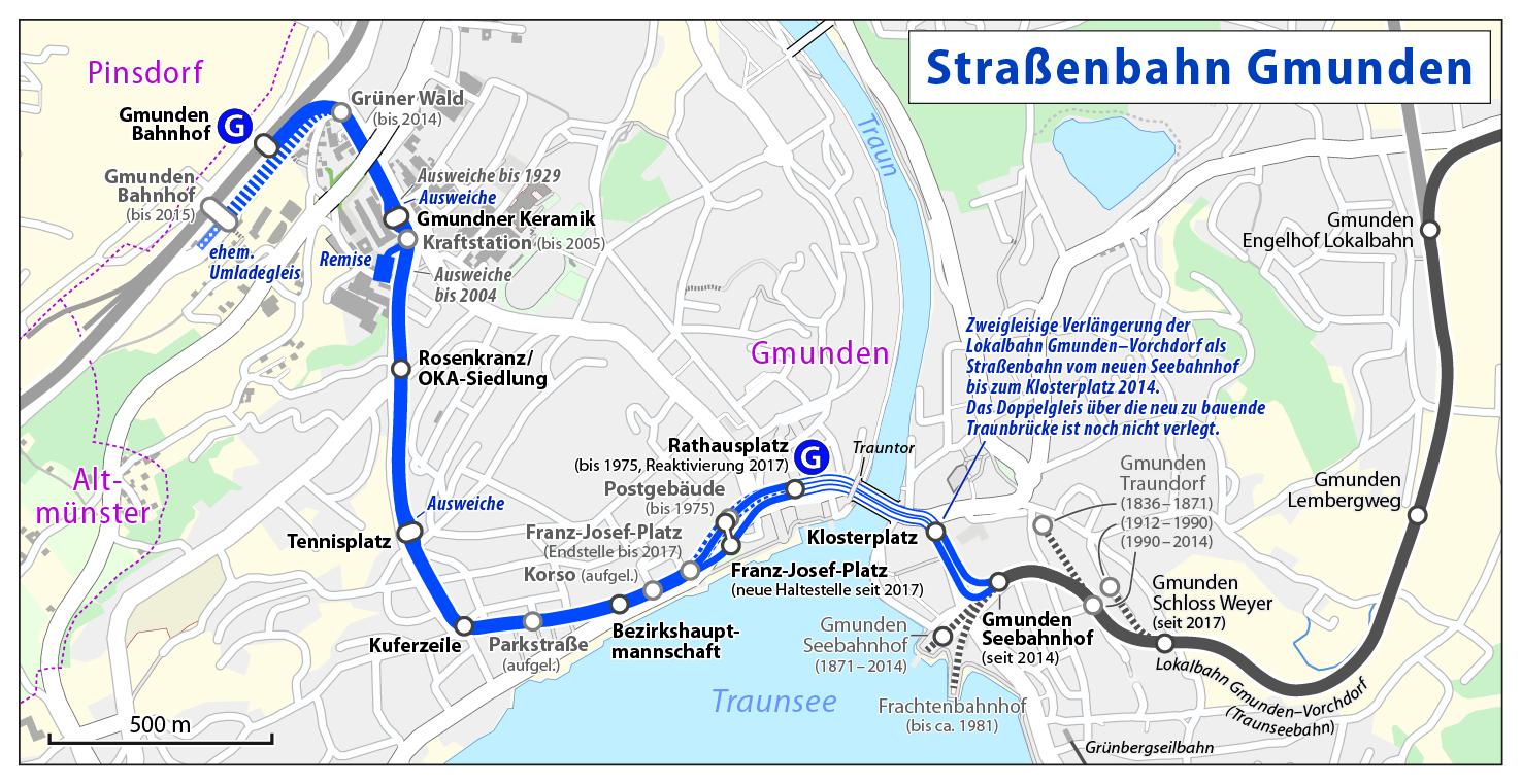 mapa Gmunden