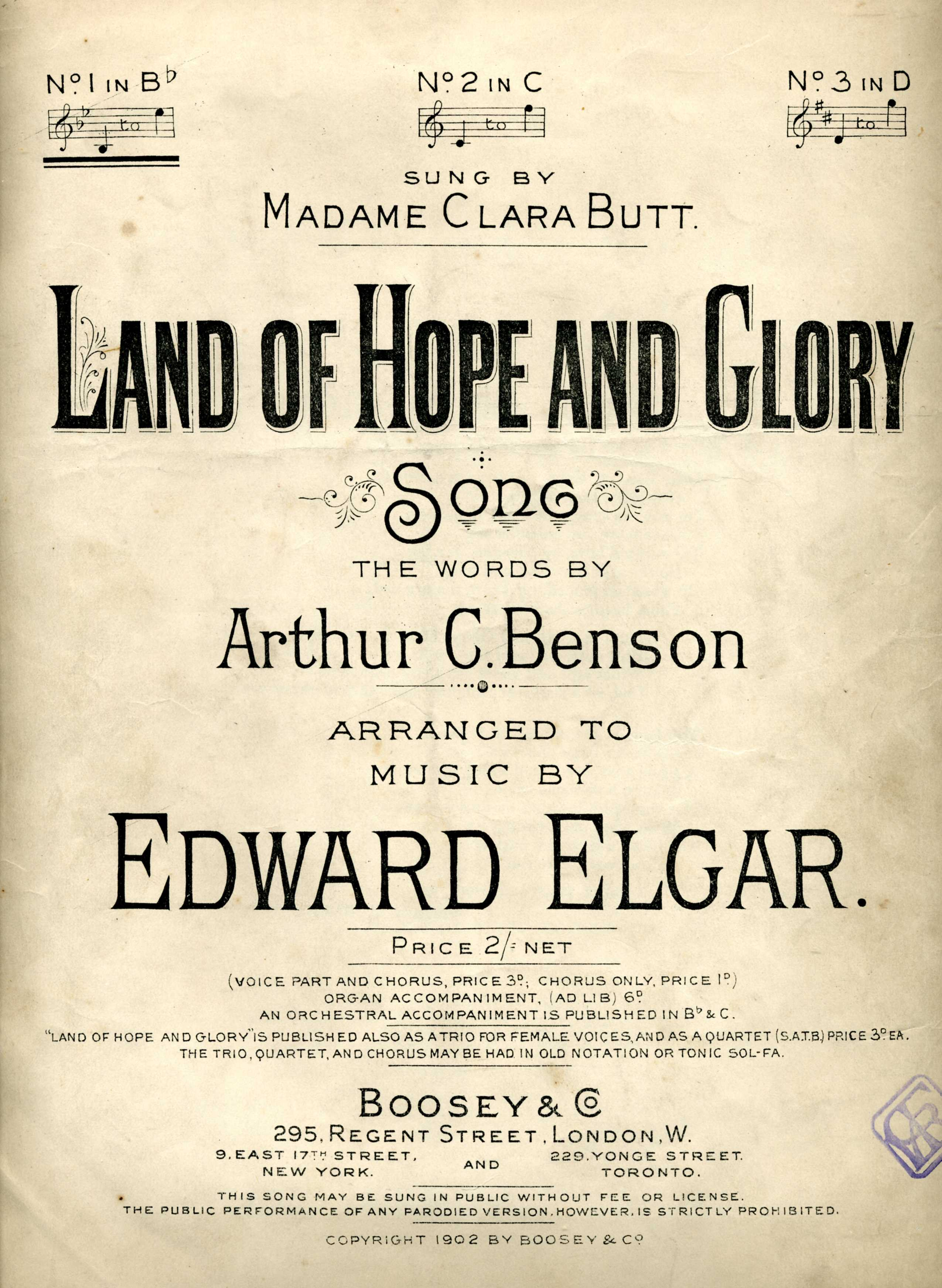 File:Land of Hope and Glory by Elgar song cover 1902 jpg