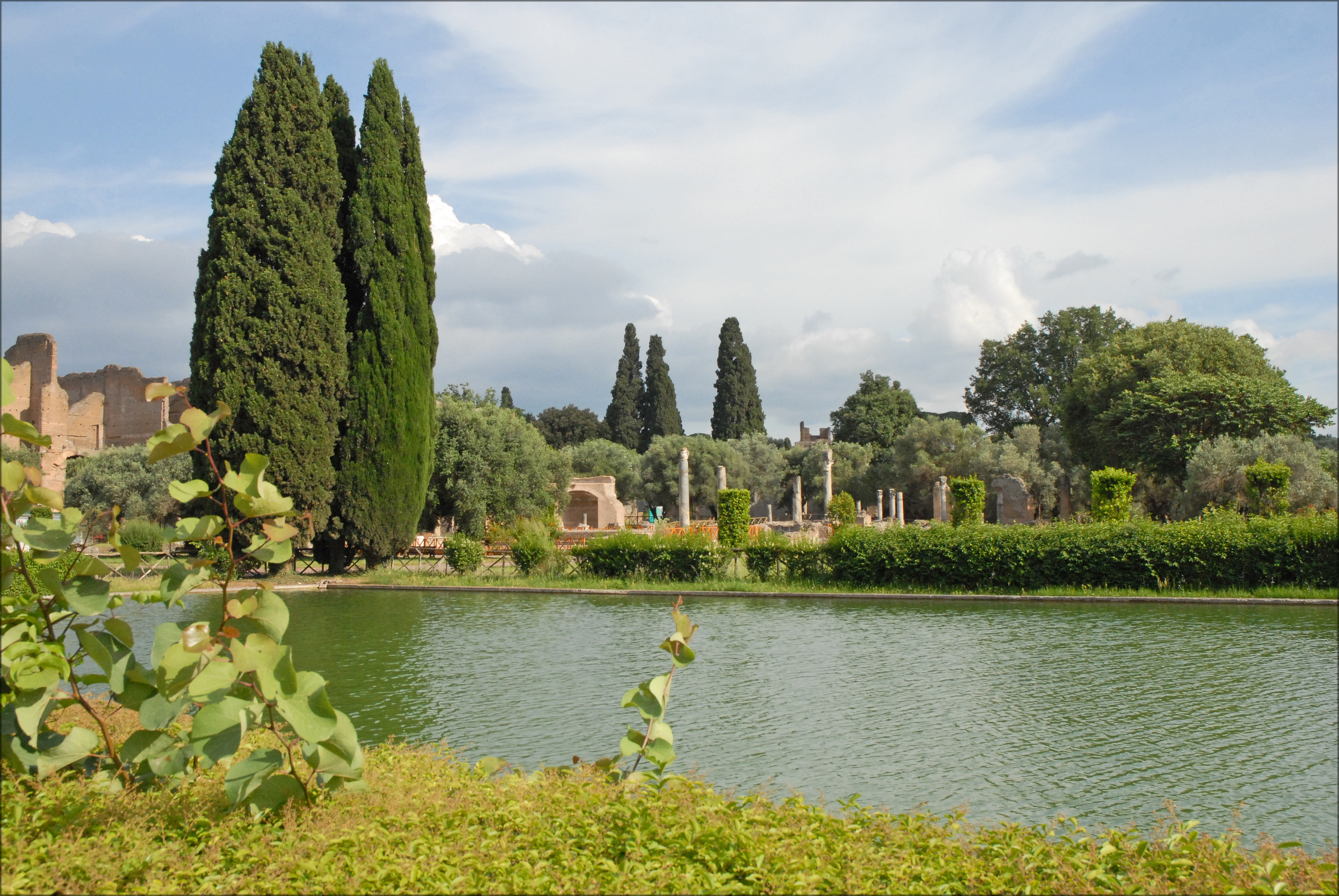 Pecile Villa Adriana Pianta
