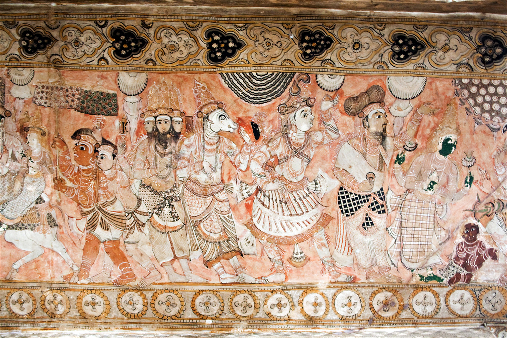 Lepakshi Veerabhadra Temple Ceiling Paintings