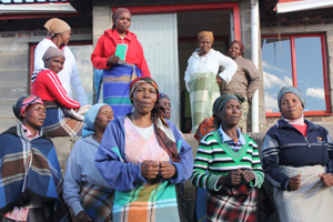 Community Health Workers in Lesotho receive monthly trainings.