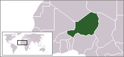 Location of Niger