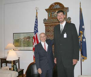 Muresan (right) meeting with Nicholas F. Taubman, the U.S. Ambassador to Romania Muresan.jpg